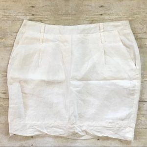 South Moon Under White Textured Scalloped Skirt L